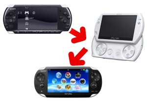 PSP 3000 PSP Go PS Vita